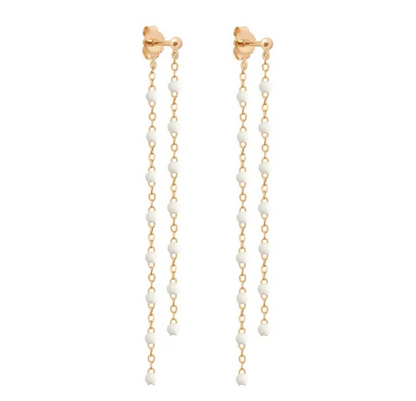 Gigi Party Earrings | White