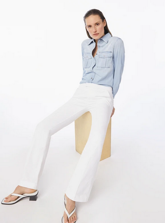 Le Serge White Trousers