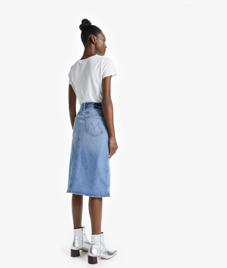 Swooner Straight A Denim Skirt | Give it Up