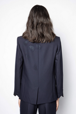 Venus Strass Leaf Jacket | Navy