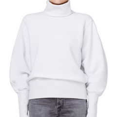 Balloon Sleeve Turtleneck Sweater | Paper Mache