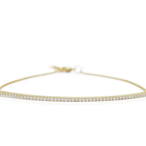 Diamond Bar Bracelet | 14k Gold | .22ct