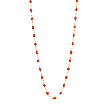 "Gigi Clozeau Necklace | Poppy Red | 16.5"" to 24.2"""