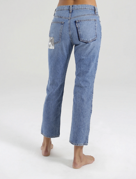 ASKK High Rise Straight Pant | Palm Denim
