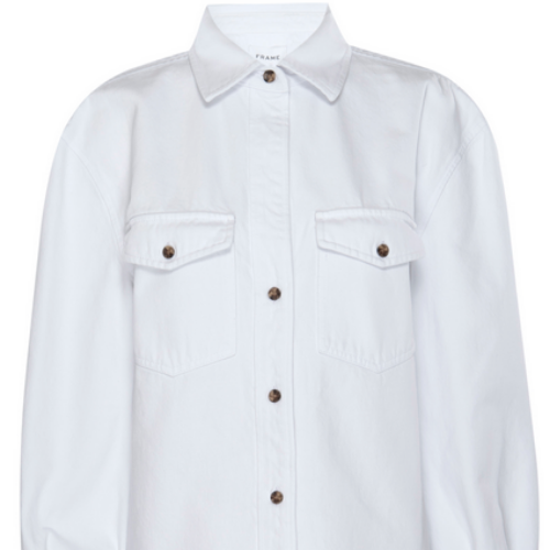 Boyfriend Denim Shirt | Blanc White