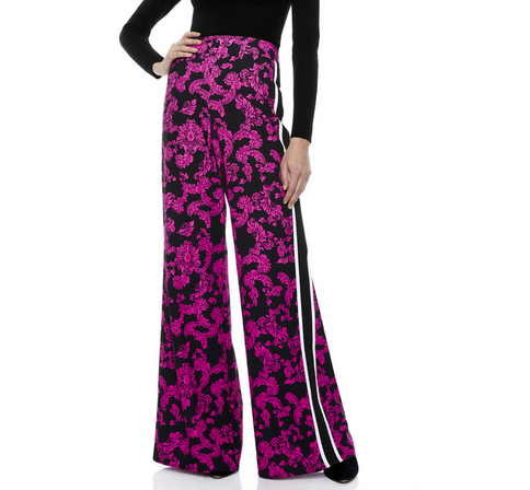 Athena Floral Pants | Pink and Black