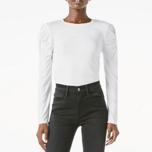 Twisted Sleeve Long Sleeve Top | Off White