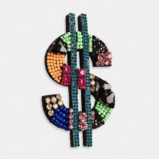 Dollar Sign Brooch