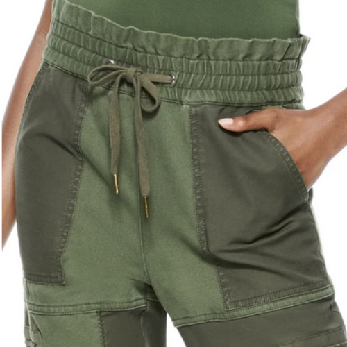 Tribeca Patchwork Jogger | Light Olive