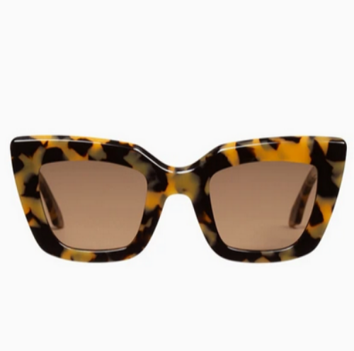 Brigada Sunglasses | Yellow Tort + Brown Lens