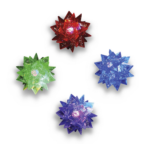 Flashing Stars Spikey Ball | Assorted
