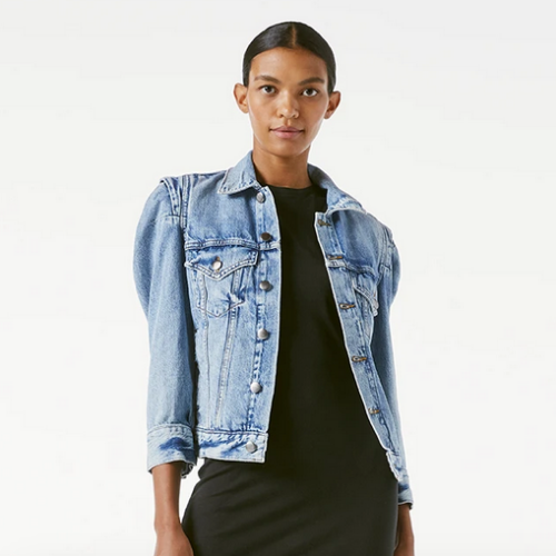 Rosette Sleeve Jean Jacket | Langton Denim