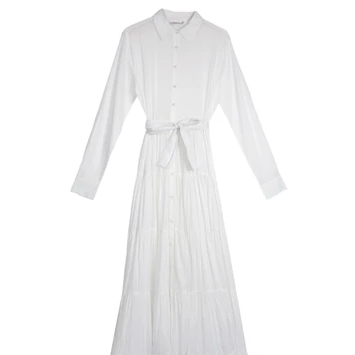 Calam Dress | White