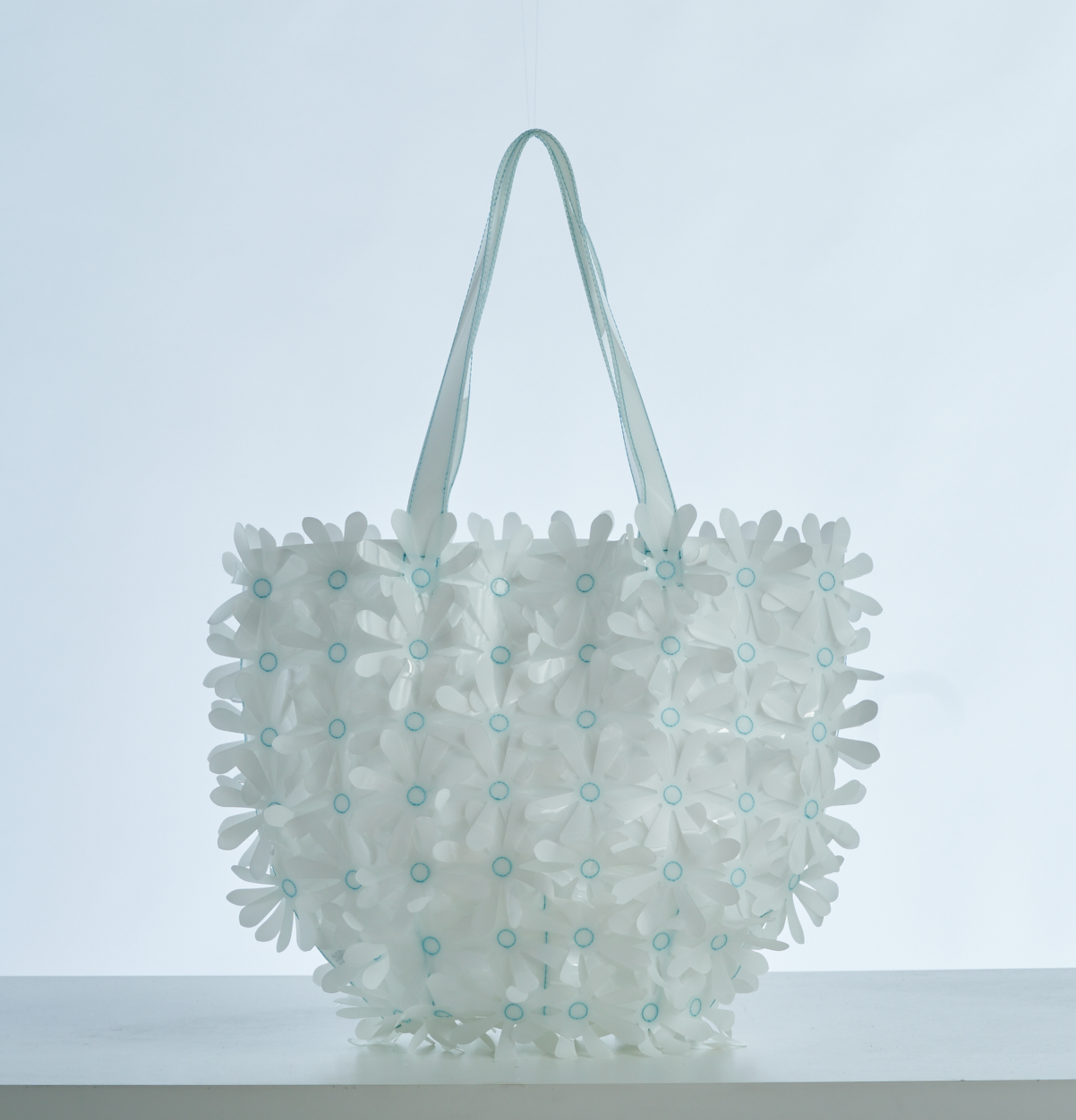 Daisy Dave Bag | White + Blue