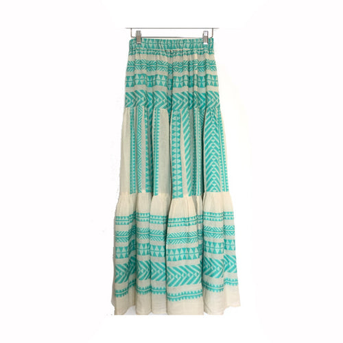 Tiered Beach Skirt | Mint + Cream