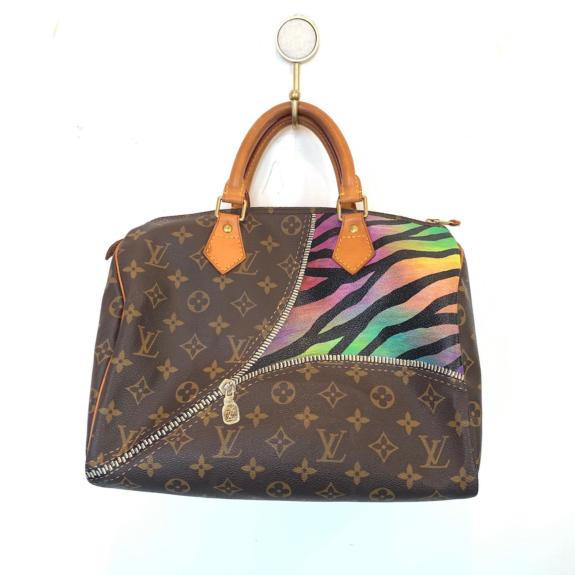 Authentic Vintage Bag | Zipper Zebra