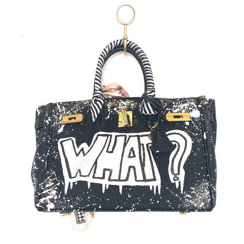 What? Painted Bag | Black | Large