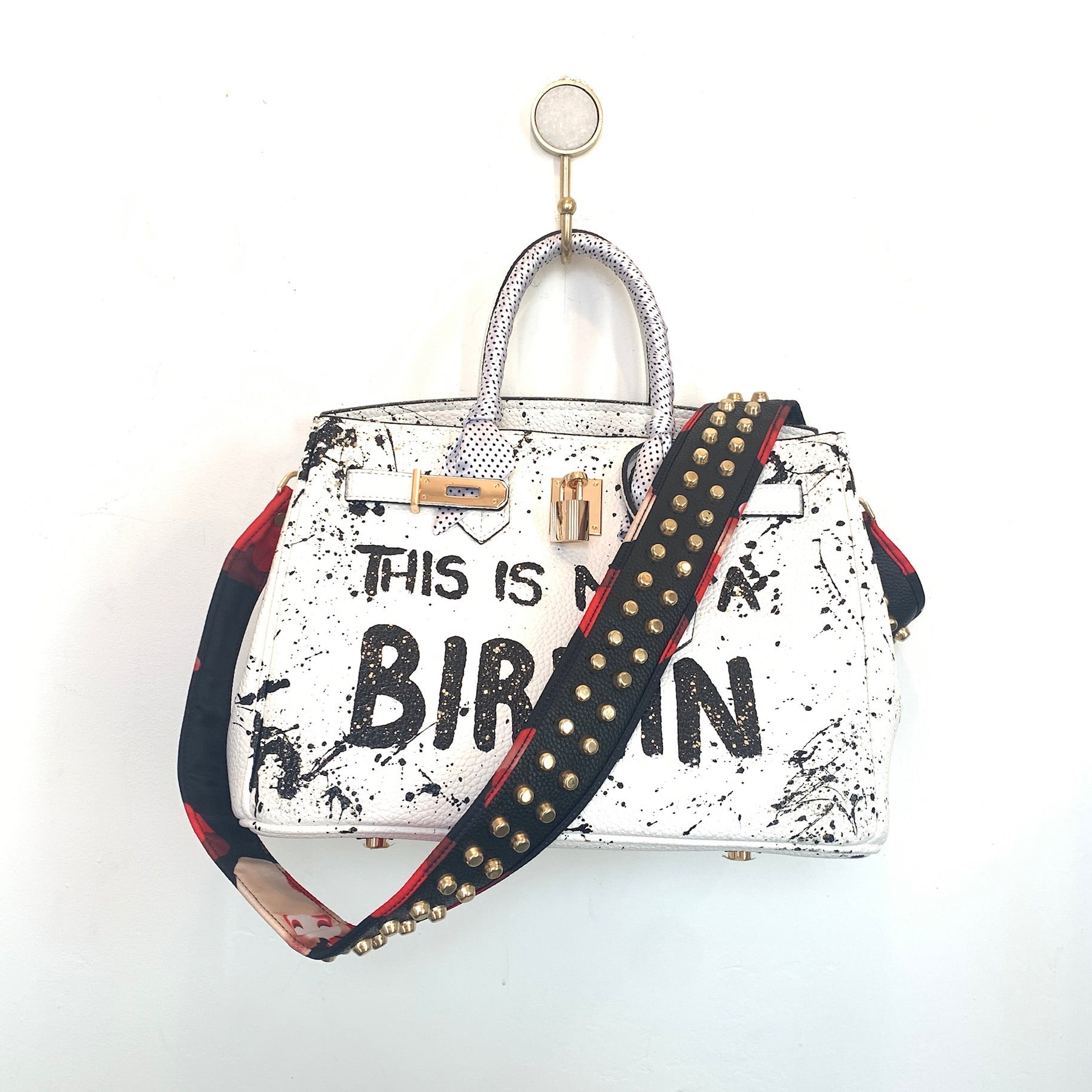 This Is Not A Birkin Painted Bag | White | Large