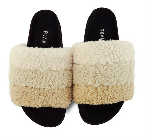 Fuzzy Cream Puff Slippers