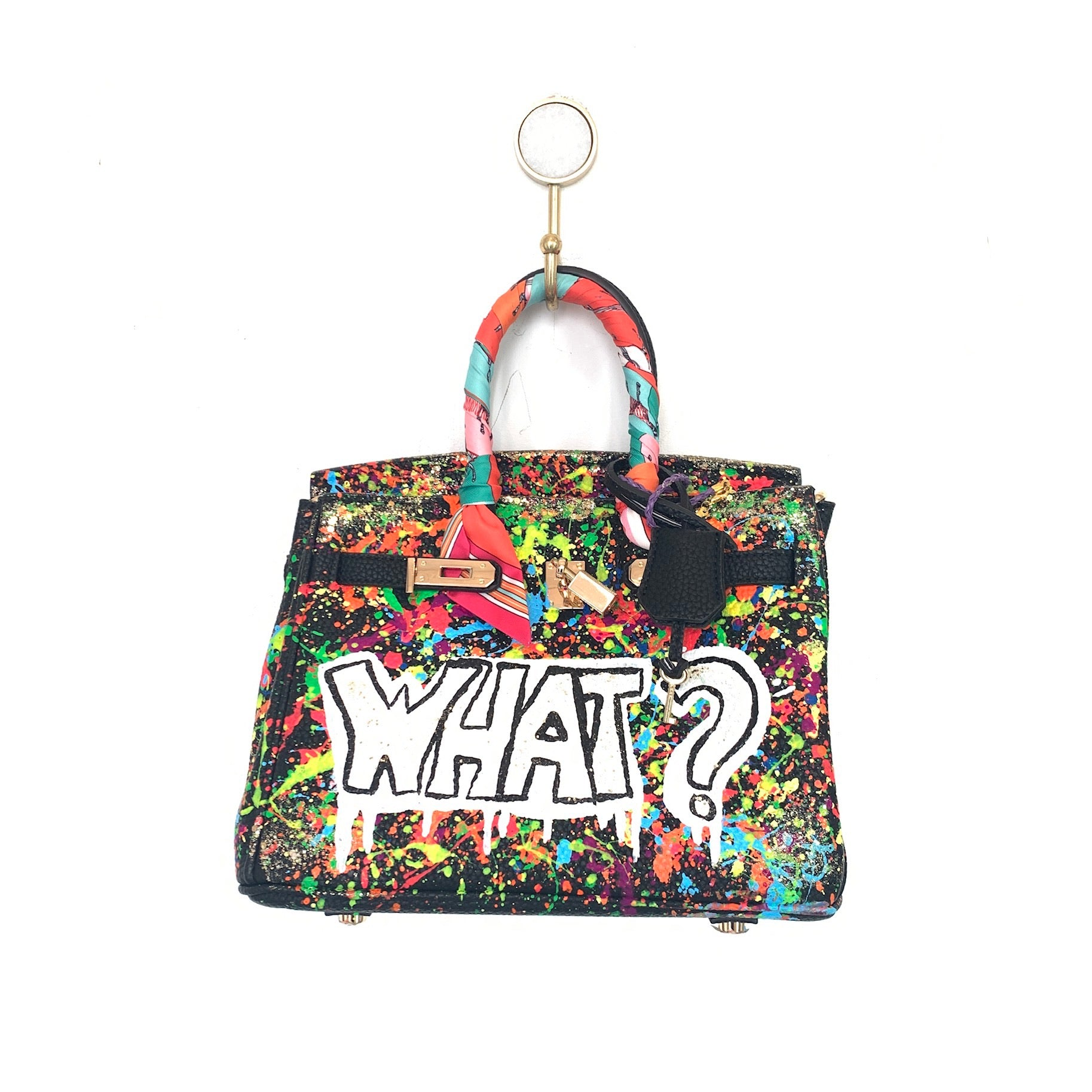 What? Painted Bag | Black | Small