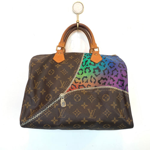 Authentic Vintage Bag | Zipper Cheetah