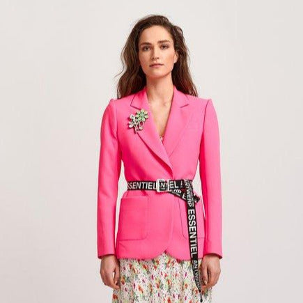 Vactive Single Breasted Blazer | Neon Pink