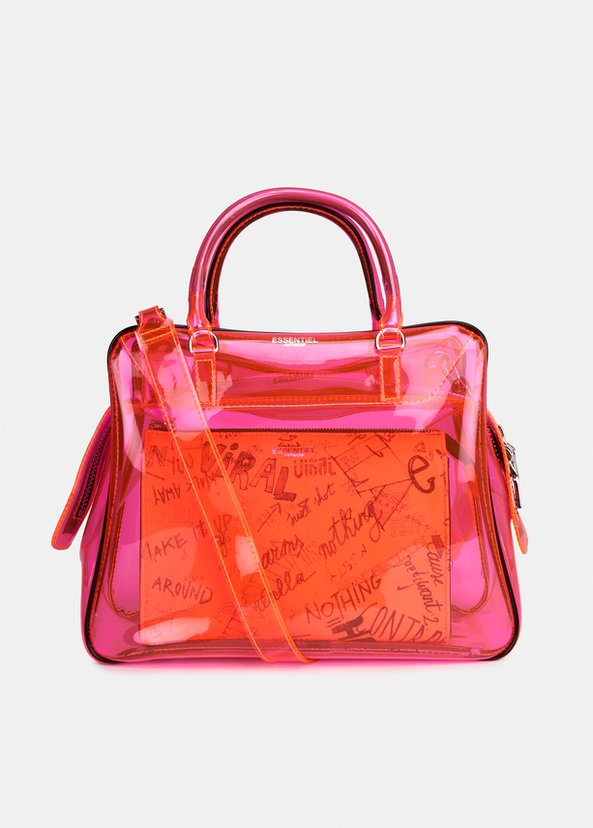 Varouska See Through Bag | Pink