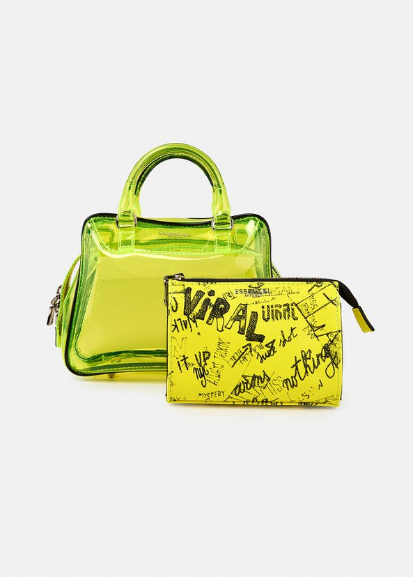 Vilietta See Through Bag | Neon Yellow