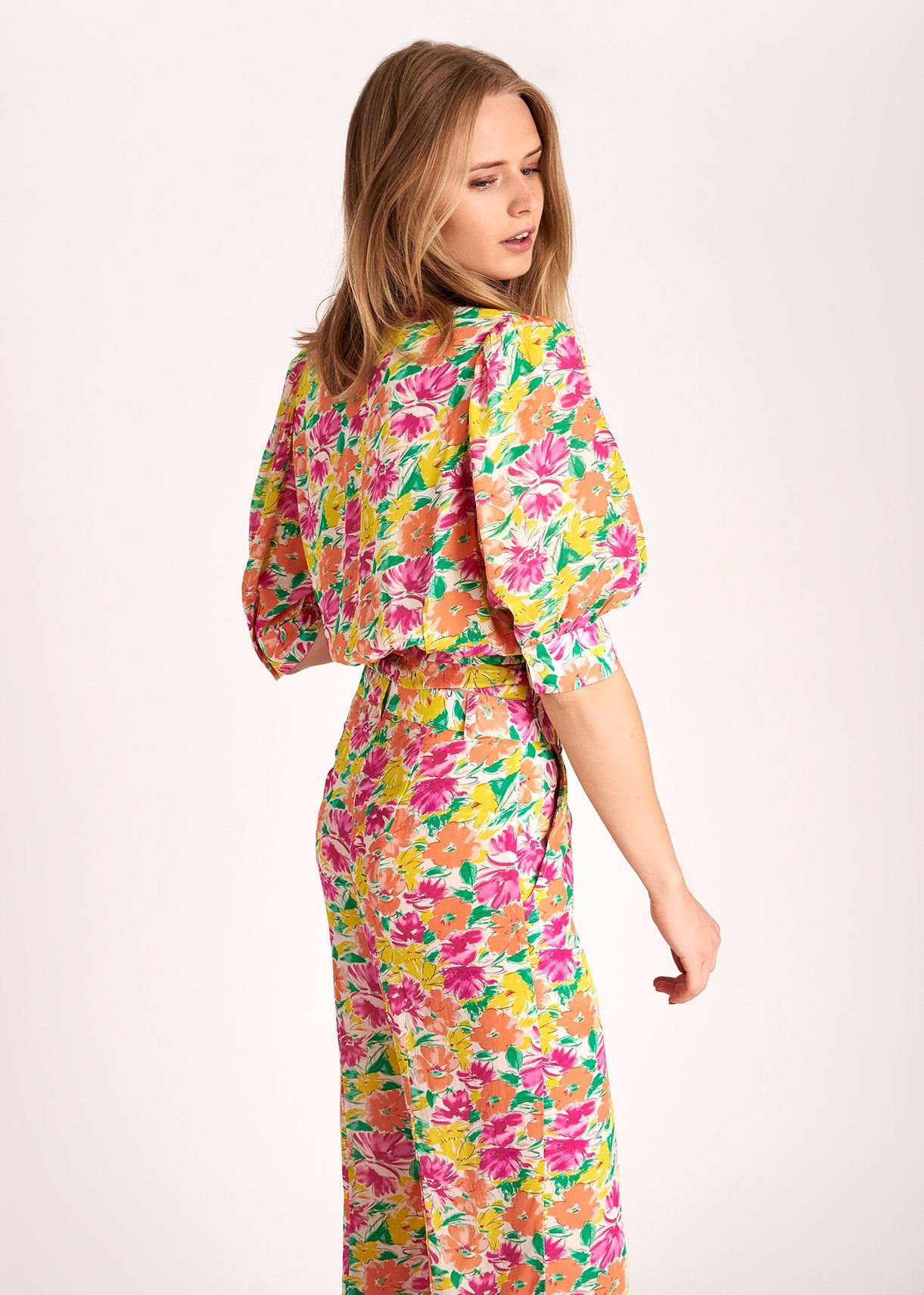Wariah Wrap Top | Bright Floral