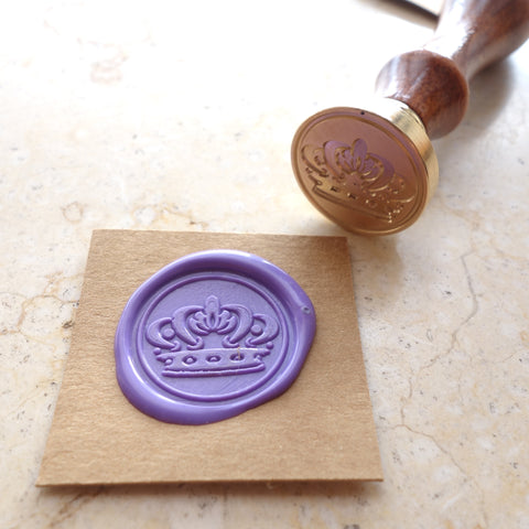 Crown - Wax Sealing Stamp Set
