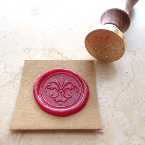 Fleur De Lis - Wax Sealing Stamp Set