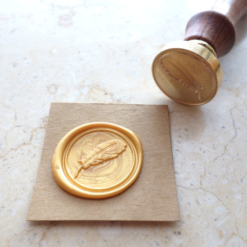 Feather - Wax Sealing Stamp Set