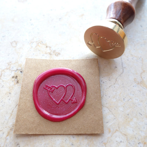 Double Hearts - Wax Sealing Stamp Set