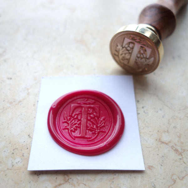 Letter T - Wax Sealing Stamp Set