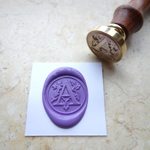 Letter A - Wax Sealing Stamp Set