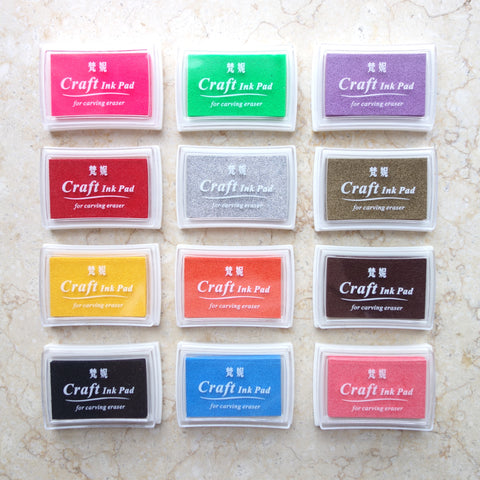 Crystal Ink Pads Set of 12 Colors