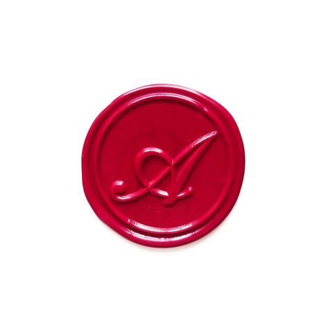 Letter A - Cursive Wax Seal Stamp Set