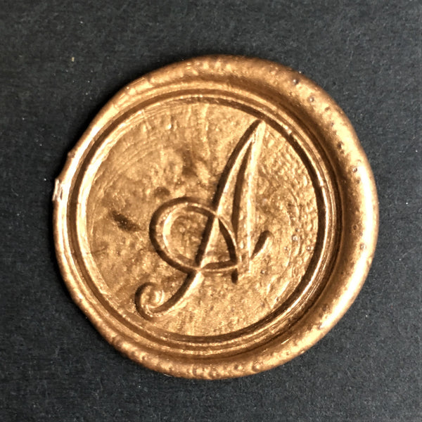 Letter A - Cursive Wax Seal Stamp Set - Home Edited