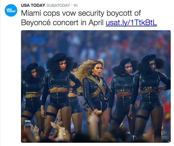 Miami Police Dept. Votes on Boycott for Beyonce's Formation World Tour
