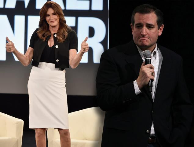 Caitlyn Jenner Likes Ted Cruz.  Ted Cruz Don't Like Trans Issues.  CONFUSION!!