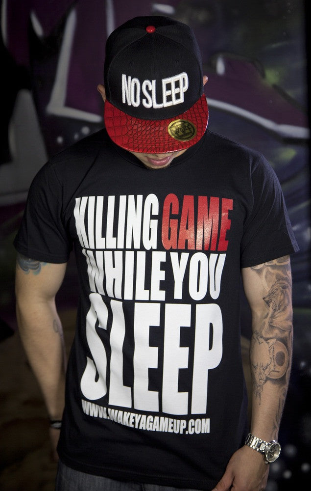 Killing Game While You Sleep (White and Red) - WOKE