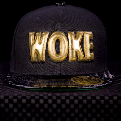 3D Black Gold King/Queen Woke Snapback - WOKE