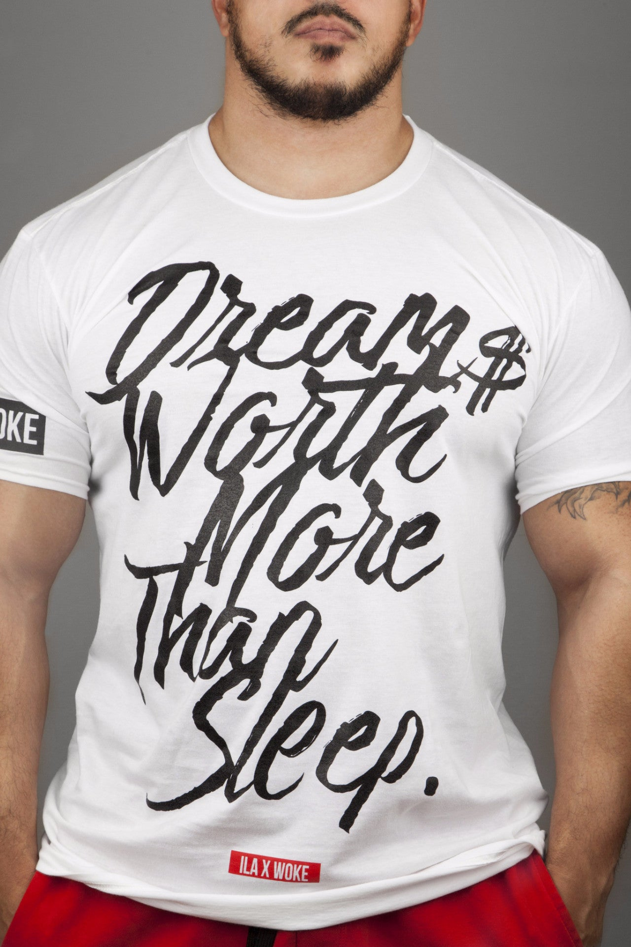 Dreams Worth More Than Sleep Tee (White) - WOKE - 1