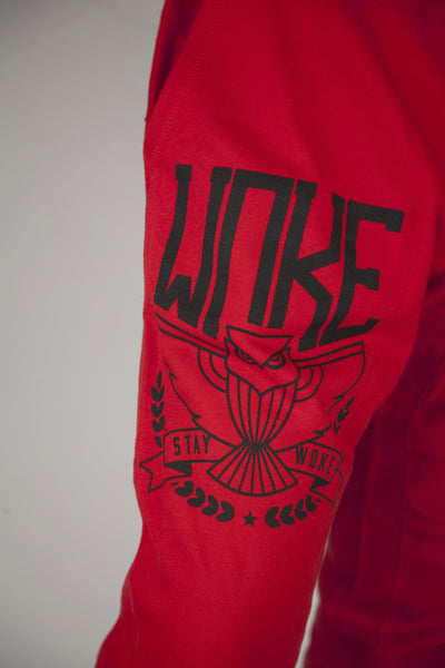 Stay Woke Emblem RED Joggers - WOKE - 2