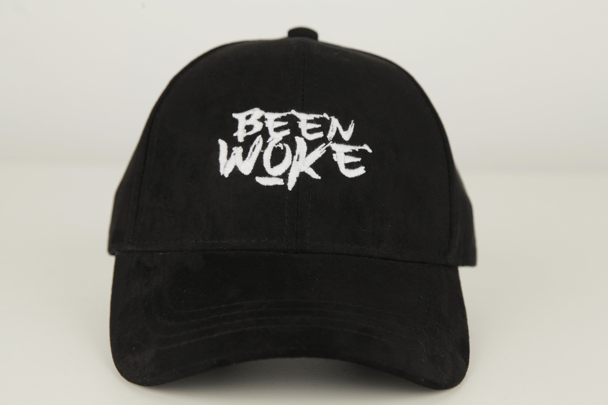 OFFICIAL WOKE APPAREL - Been Woke Black Suede Polo Hat