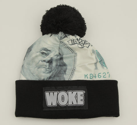 Money Pom Patchway Woke Beanie - WOKE