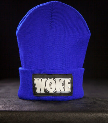 Blue Patchway Beanie - WOKE