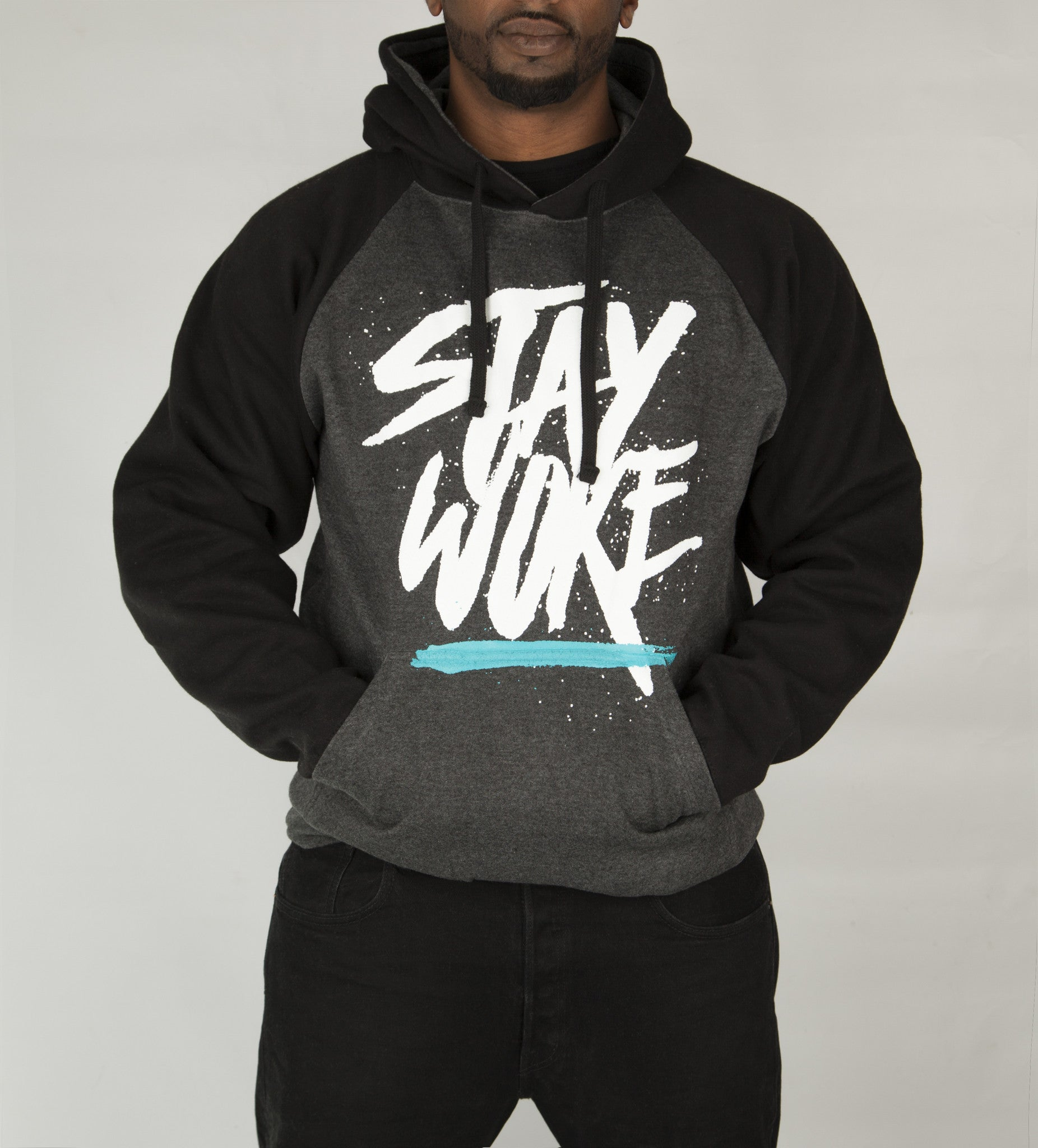 Stay Woke Limited Gray/Black Hoodie