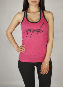 Stay Woke Limited Pink Female Tank Top