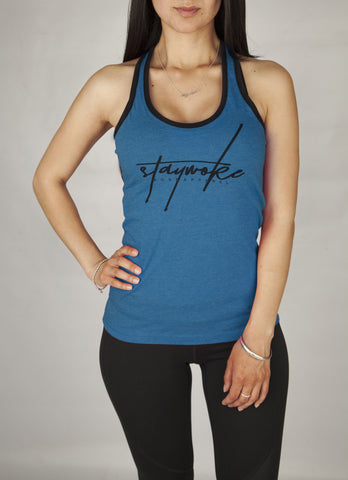 Stay Woke Limited Teal Female Tank Top